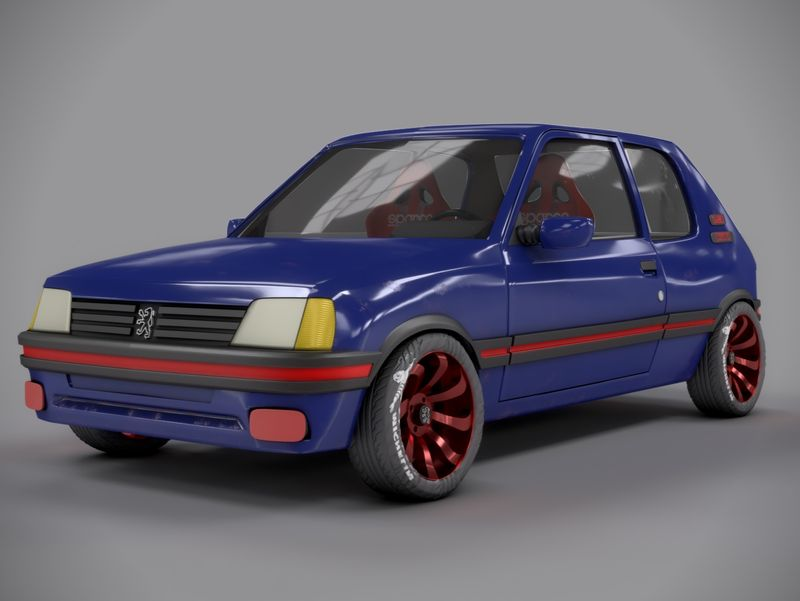 3D Peugeot 205 Gti