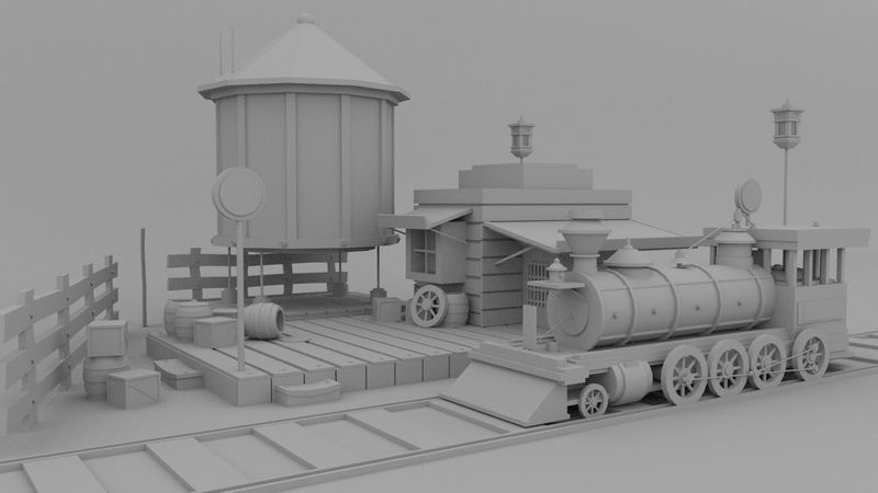 Low poly modeling