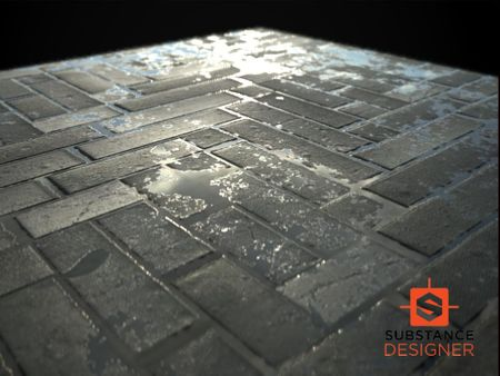 Wet Stone Pavement