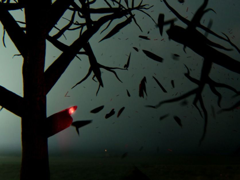 Tree Lightning Strike Shot