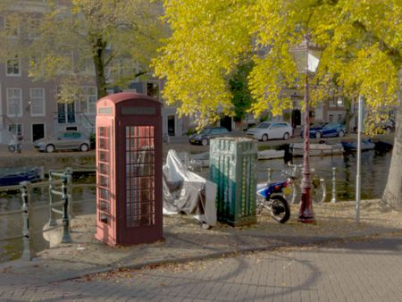 Telephone Box by  River