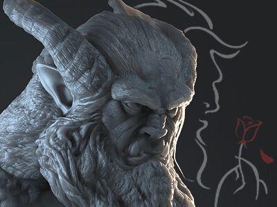 The Beast Bust - Fan Art
