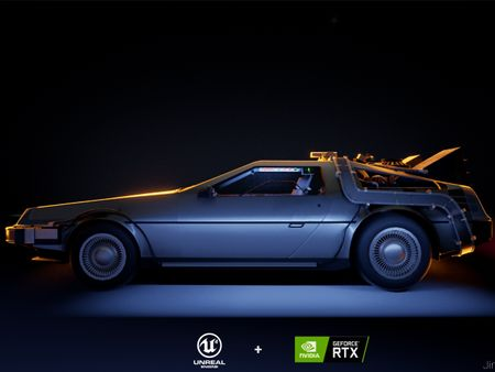 DELOREAN - Ray Tracing Render