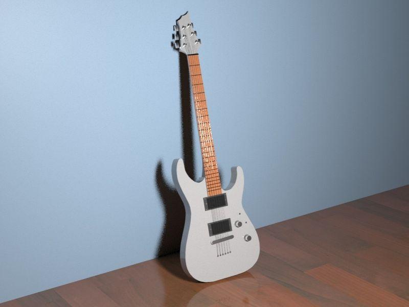 3D model of my guitar