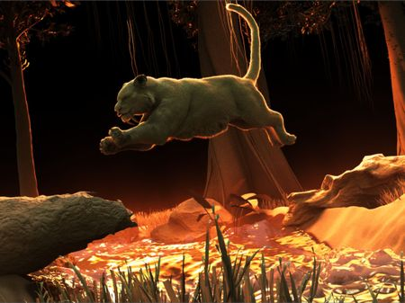 Sabertooth Jump Animation
