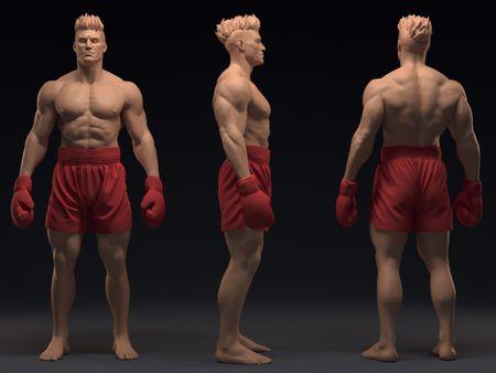 Male anatomy study - Ivan Drago