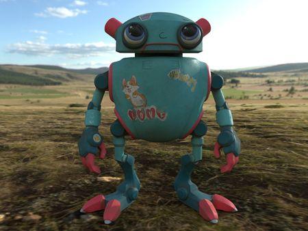 Eddie the doll robot