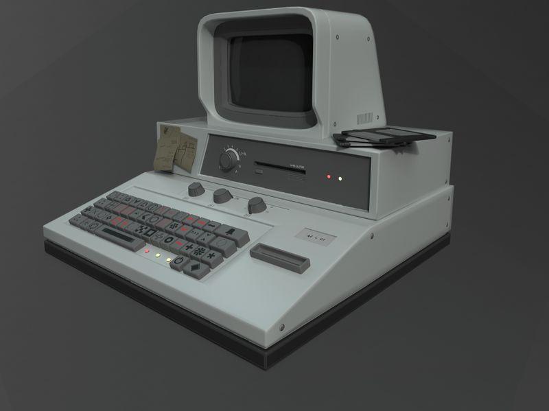 Retro Sci-fi Computer