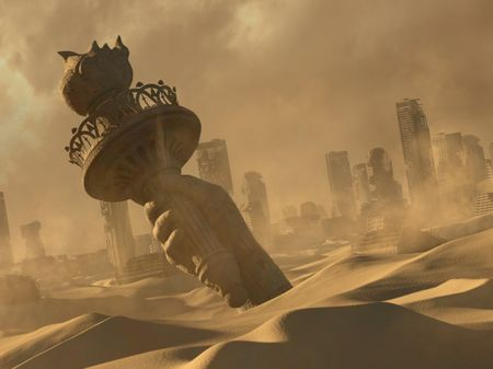 Post Apocalyptic City in Desert