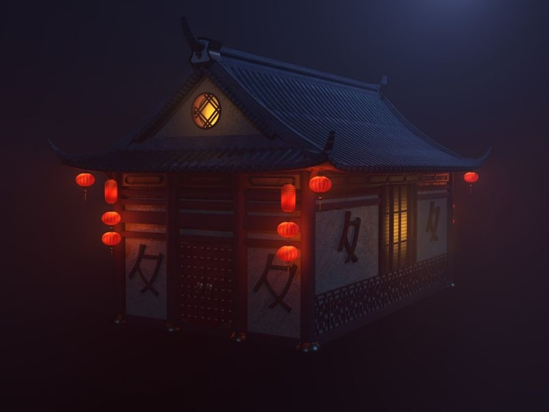 Mystical asian house - Personal project