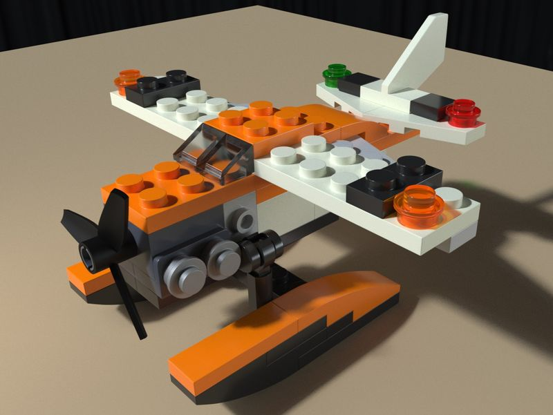 31028 Lego Plane 3D model