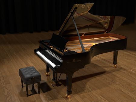 Steinway & Sons  Grand Piano Model D