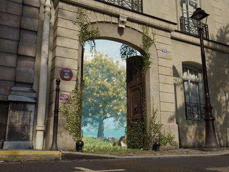 Behind a door in Paris