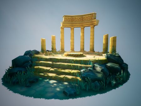 Ruined Oracle Diorama