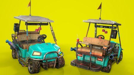 Stylized Golf Cart