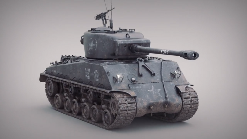 Sherman Tank // Look-Dev