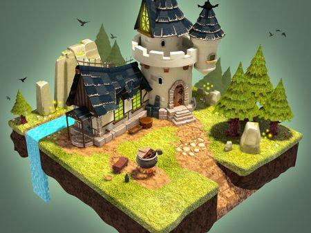 Magic Castle 3D Modeling