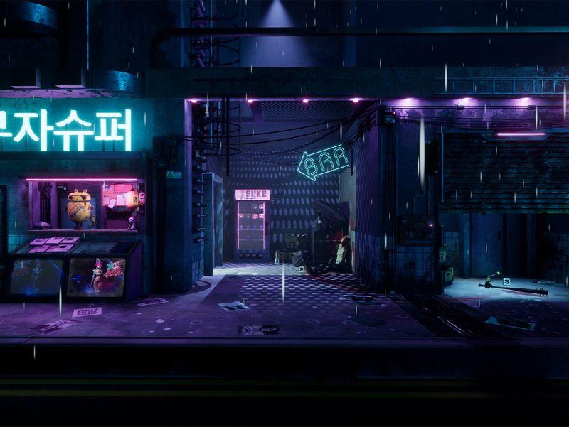 Cyberpunk 2077 Inspired Environment