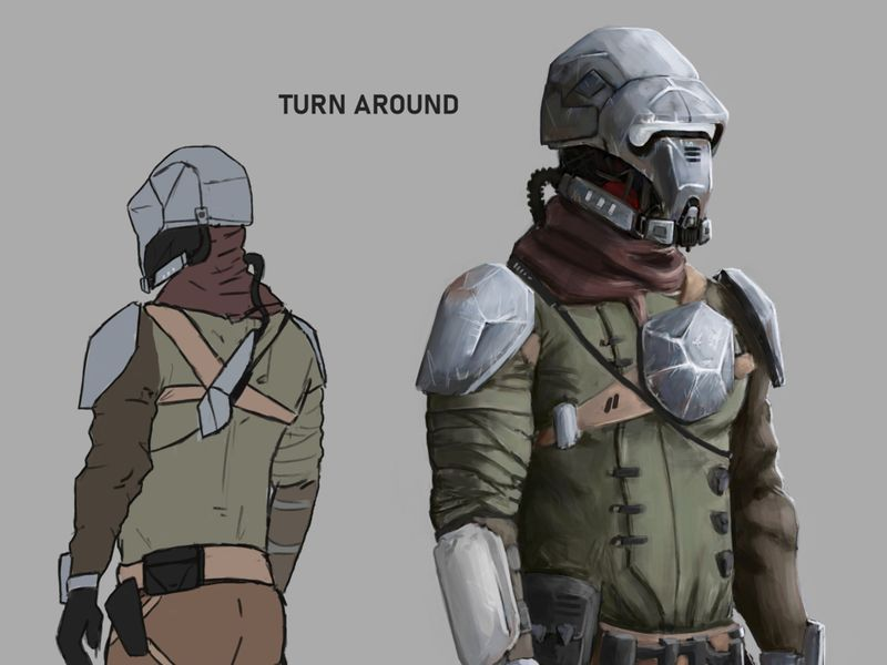 SCI-FI BOUNTY HUNTER CONCEPT