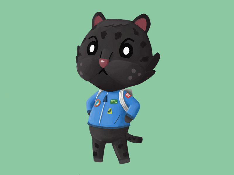 JUNO the Black Jag - Animal Crossing (fan concept)