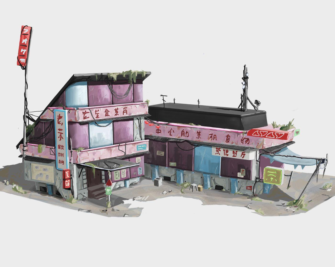 Harbour Bandits - Tea House (Building Concept + UI)