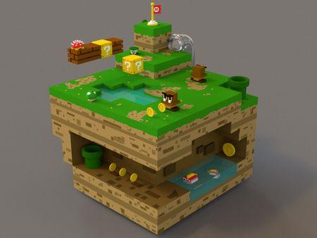 Isometric Mario