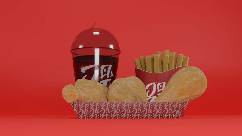 3D animation: Fast Food Ad