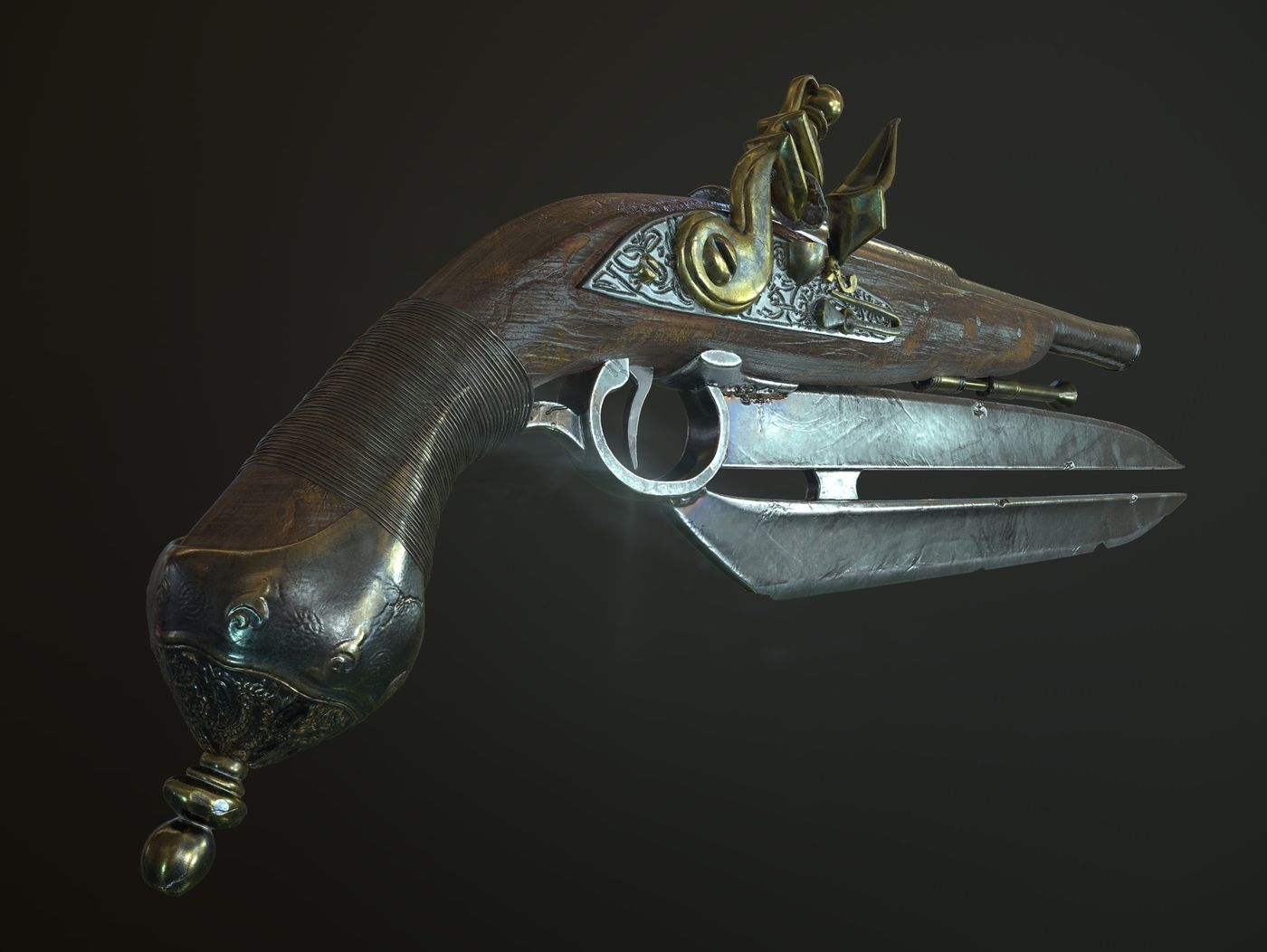Double Bladed Flintlock