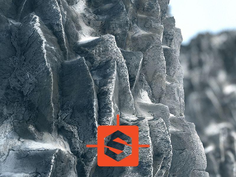 Sharp Snowy Cliff