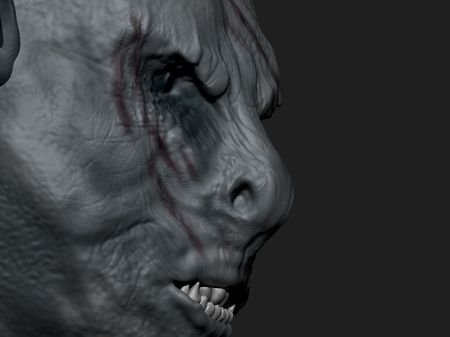 Orc sculpt inspired by Azog
