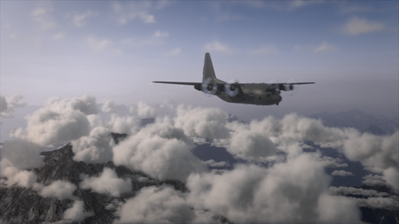 Lockheed over Clouds