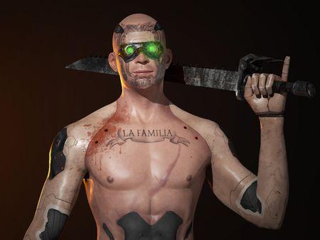 Cyberpunk Latin Gang (Real-time Character)