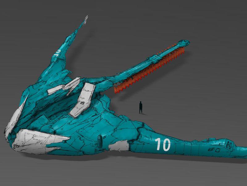 Low orbit bomber concept art