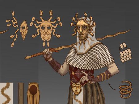 Medusa Warrior Concept art