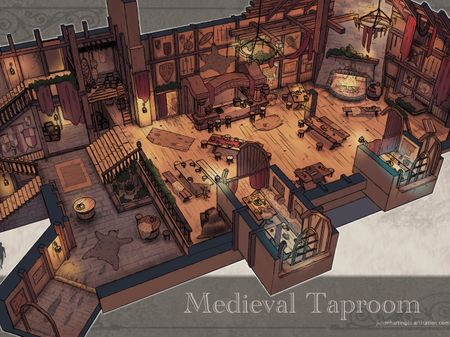 """""""The dancing Dog"""" - Environmental Concept Art Medieval/Fantasy Project"""