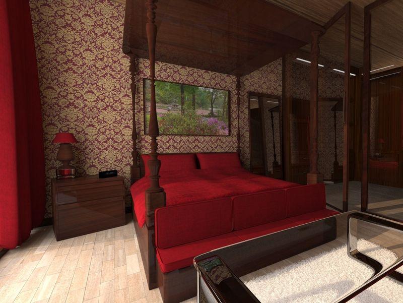Old Royal bedroom, made more modern