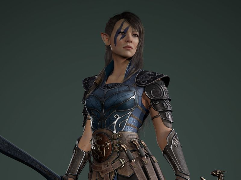 Elf Commander Onneisha - Real-Time Character