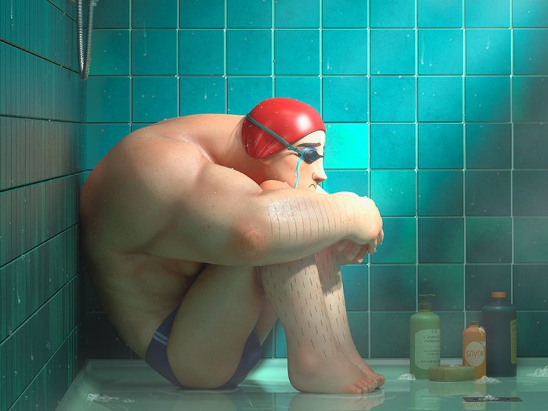 The sad swimmer