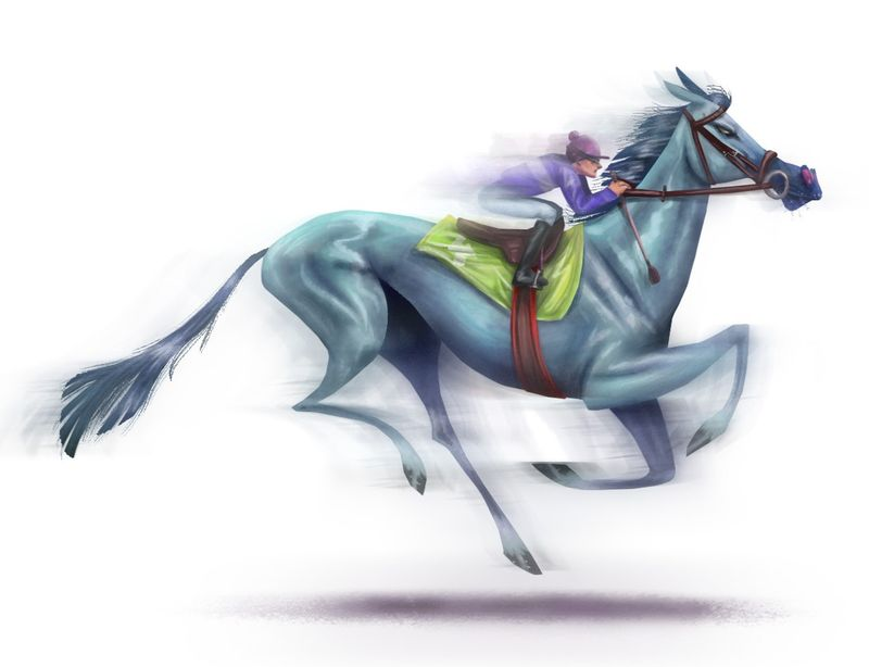 The racing horse