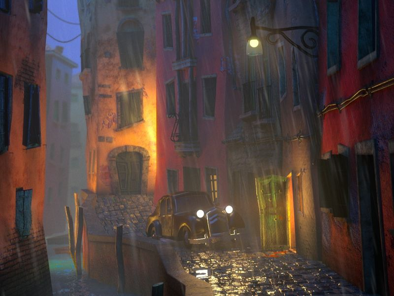 A backstreet in Italy