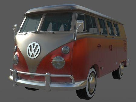 VW Kombi Maroon/Gold