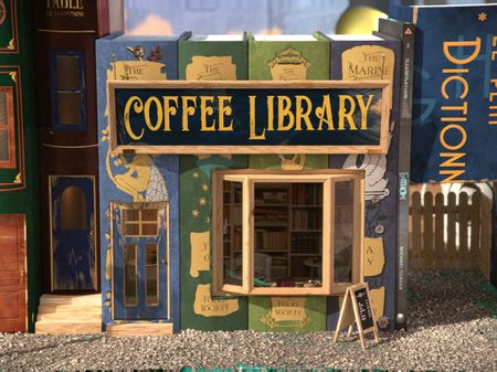 Coffee Library - 3D model scene