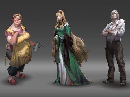 2020 Spring portfolio for Character Concept Art