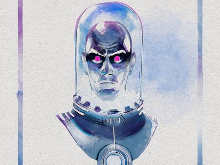 Mr. Freeze Watercolor Experiment