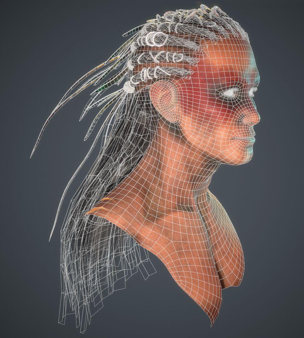 Wireframe Face Kaitlynreneeart
