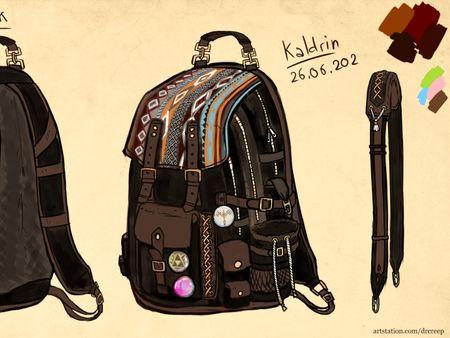 Fantasy / traditional - ish backpack design