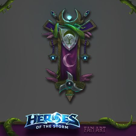 Night Elf Banner - Heroes Of The Storm