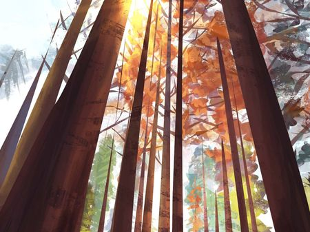 Background Painting - Forest