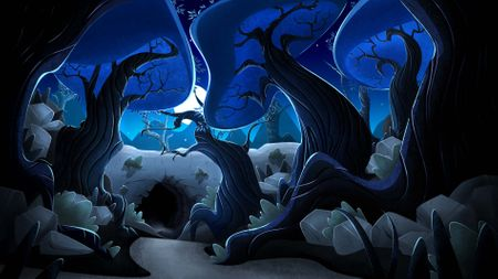 Cave Background Painting