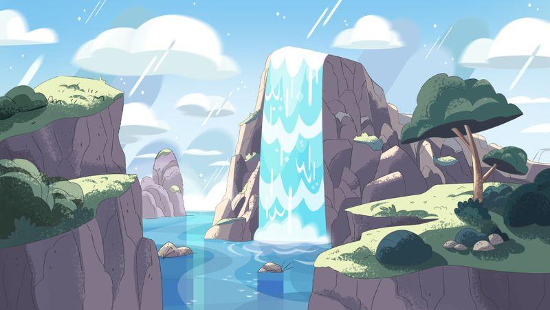 Background design & paint - Steven Universe style